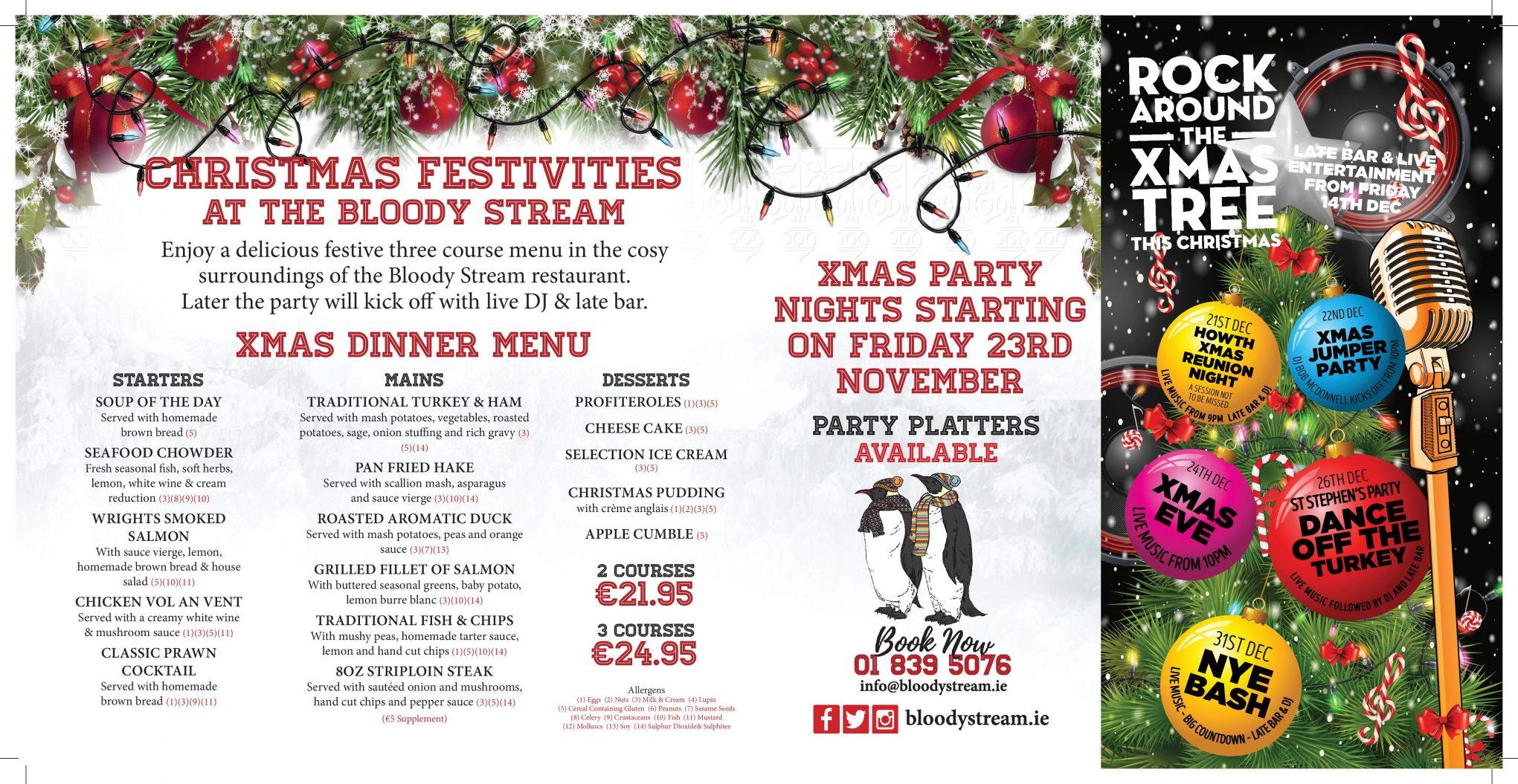 Christmas Parties Howth Dublin